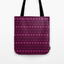 Dividers 07 in Purple over Black Tote Bag