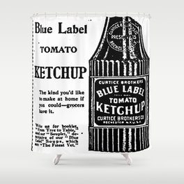 Blue Label Tomato Ketchup Shower Curtain