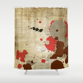 Abstract Lemonchiffon Burlywood Splash Shower Curtain