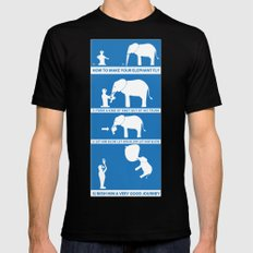 how to make your elephant fly MEDIUM Black Mens Fitted Tee