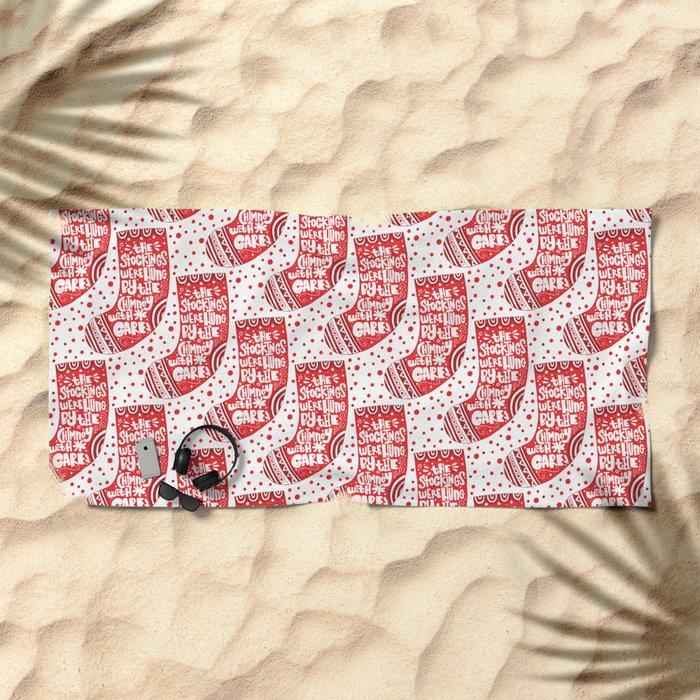 THE WORST CHRISTMAS EVER Beach Towel