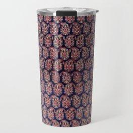 Afshar Persian Kerman  Antique Rug Print Travel Mug