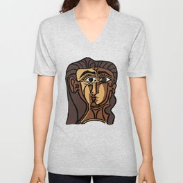 Picasso - Woman's head #3 Unisex V-Neck