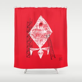 A Machine Designed To Fly In Outer Space Shower Curtain