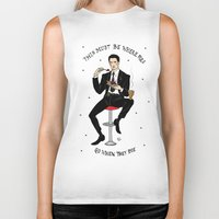 dale cooper Biker Tanks featuring Special Agent Dale Cooper ~ RR Diner by Emma Munger