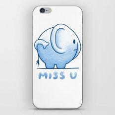 blue elephant iPhone & iPod Skin