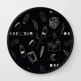Witchy Stuff Black Wall Clock