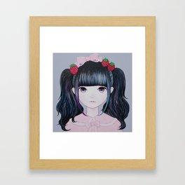 Nakayoshi Strawberry Framed Art Print