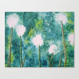 Abstract Dandelions WISH Canvas Print