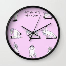 Unicorn Yoga (rose/pink) Wall Clock