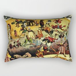 1890 Barnum and Bailey Greatest Show on Earth A Child's Dream Vintage Poster Rectangular Pillow