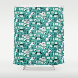 BMO patterns Shower Curtain