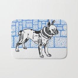 Pitbull Terrier - Blue Bath Mat