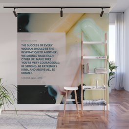 Serena Williams On Women Supporting Each Other Wall Mural