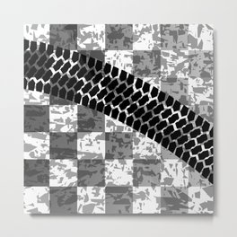 Flag Skid Mark Metal Print