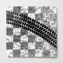 Flag Skid Mark Metal Print