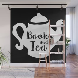 Books and Tea - Inverted Wall Mural