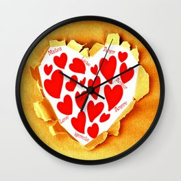 Love in languages Wall Clock