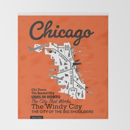 Great Cities: Chicago Throw Blanket