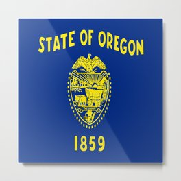 flag of oregon,america,usa,west,pacific, Beaver State,Oregonian,Portland,Salem,Eugene Metal Print