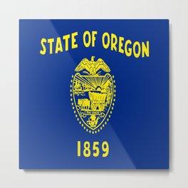 flag of oregon,america,usa,west,pacific, Beaver State,Oregonian,Portland,Salem,Eugene Metal Print