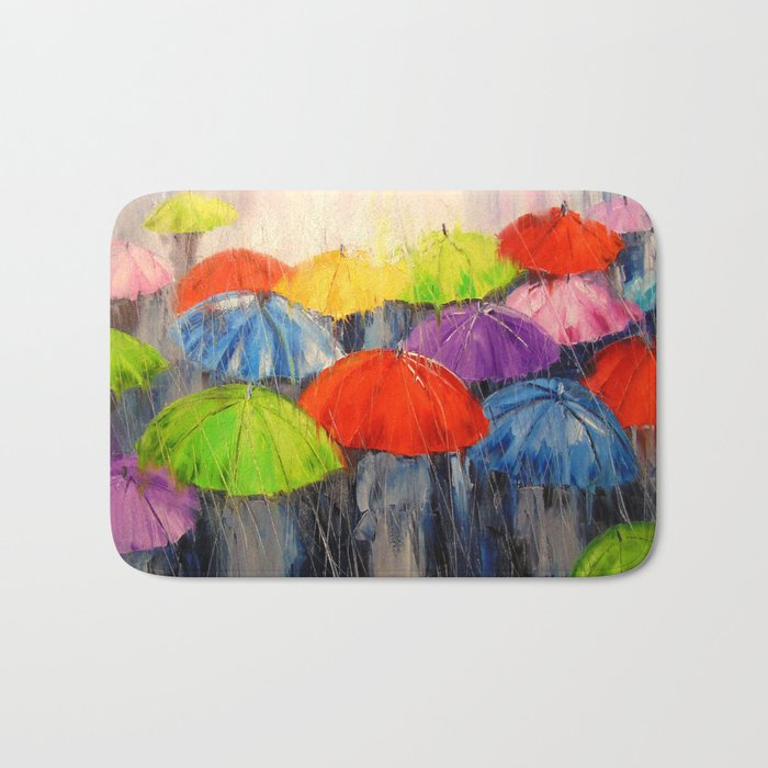 Morning rain Bath Mat