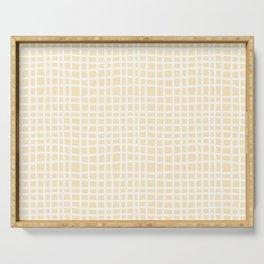 coconut cream thread random cross hatch lines checker pattern Serving Tray