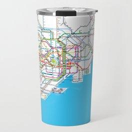 Tokyo Subway map Travel Mug