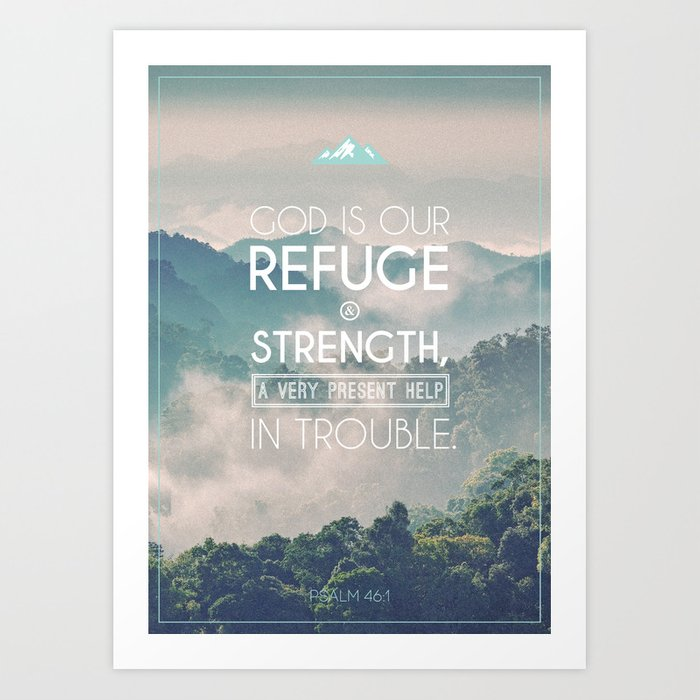 Typography Motivational Christian Bible Verses Poster