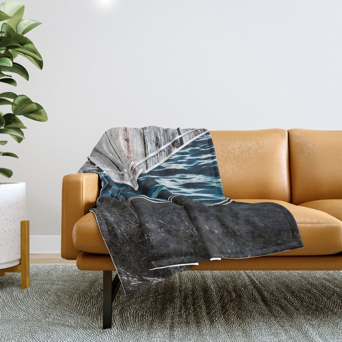 Striped Materials of Nature IV Throw Blanket
