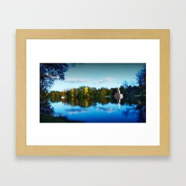 The Golden Pond Framed Art Print