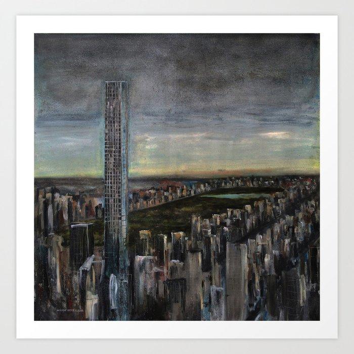 432 Park Ave (oil on canvas) Art Print