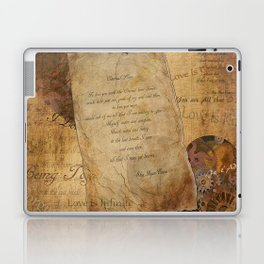Two Hearts are One - Vintage Romantic Steampunk Art Laptop & iPad Skin