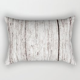 Pale Brown Wood Cottage Chic Rustic Wood Grain Texture Rectangular Pillow