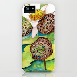 Lotus flower lily pads iPhone Case