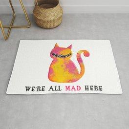 cheshire cat Alice in wonderland Rug