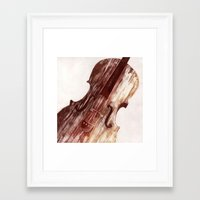 cello Framed Art Prints featuring Cello by Adrianna Grężak