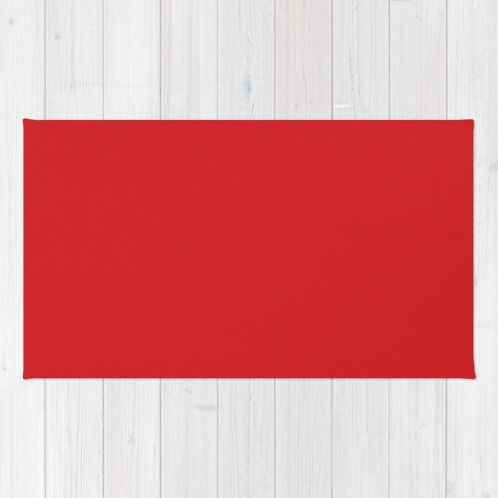 UK London Bus Red - Bright Red Double-Decker Bus Rug