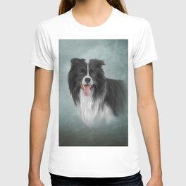 Drawing Dog Border Collie T-shirt
