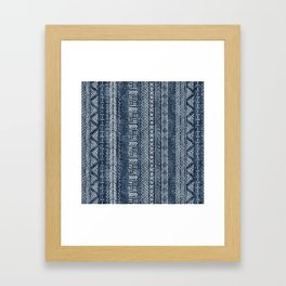 Mud Cloth Stripe Framed Art Print