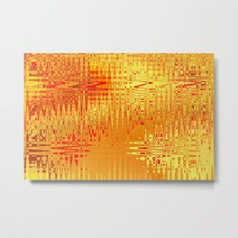 yellow abstract Graphic Design Metal Print