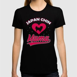 Japanese dog Mama with big heart for cute dogs and puppies T-shirt