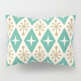 Mid Century Modern Atomic Triangle Pattern 105 Pillow Sham