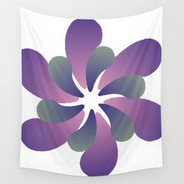 Purple ombre flower spiral Wall Tapestry