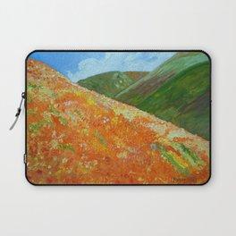 California Poppies, landscape art Laptop Sleeve
