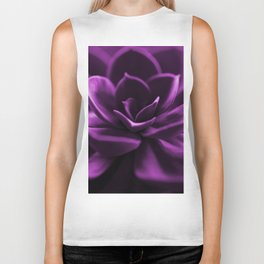Succulent Plant In Violet Color #decor #society6 #homedecor Biker Tank