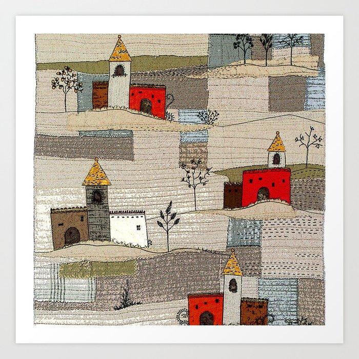 The land of castles Art Print