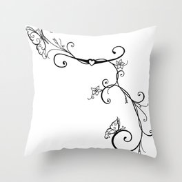 Butterfly Vines Throw Pillow
