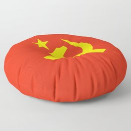 Communist Hammer & Sickle & Star Floor Pillow