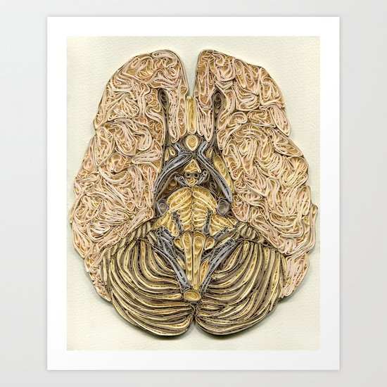 paper filigree brain Art Print